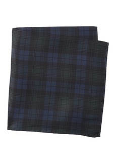 Hugo Boss Silk Plaid Pocket Square