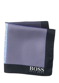Hugo Boss Silk Reversible Dot Print Pocket Square