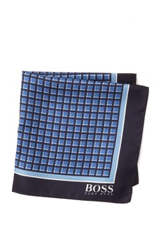 Hugo Boss Silk Water Repellant Printed Pocket Square