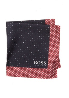 Hugo Boss Silk Water Repellent Printed Pocket Square