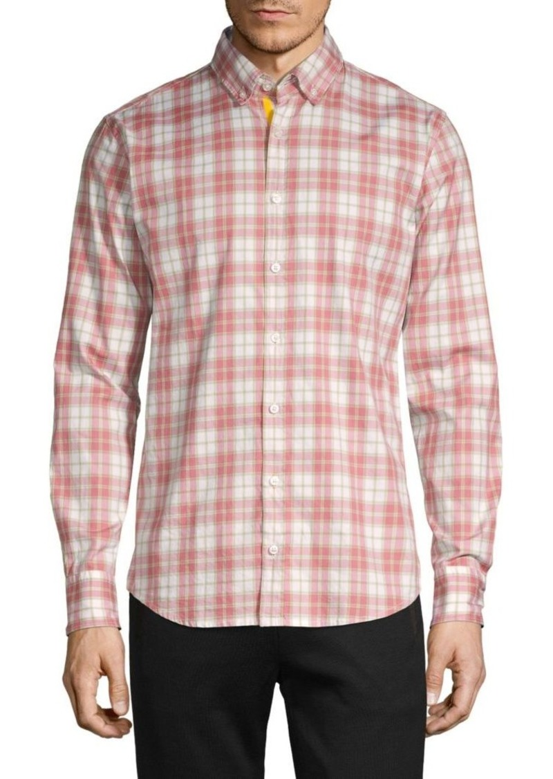 Hugo Boss Slim-Fit Plaid Long-Sleeve Shirt
