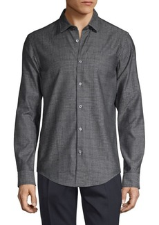 Hugo Boss Slim-Fit Plaid Shirt