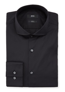Hugo Boss Slim Fit Stretch Solid Cotton Dress Shirt