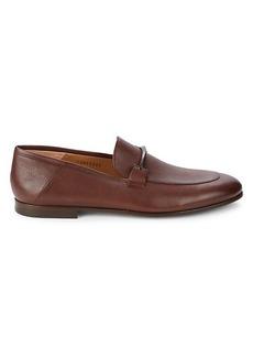 Hugo Boss Soho Textured Leather Bit Loafers