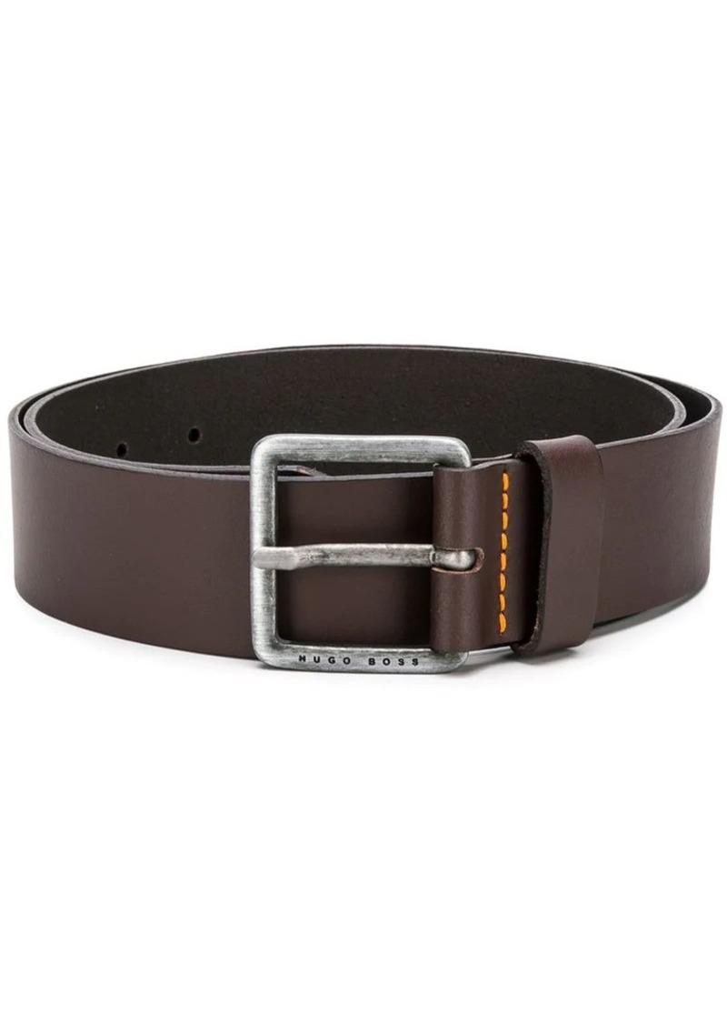 Hugo Boss square buckle belt