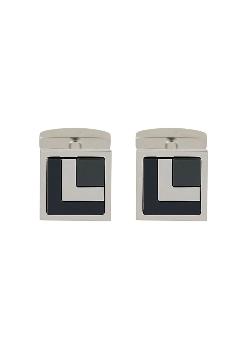 Hugo Boss square enamel cufflinks