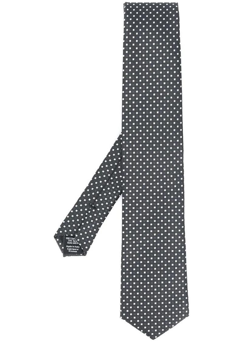 Hugo Boss square print jacquard tie
