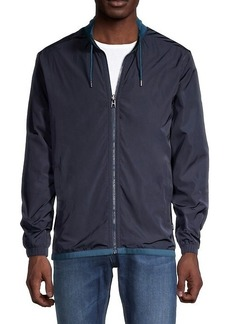 Hugo Boss Stand Collar Cotton-Blend Jacket