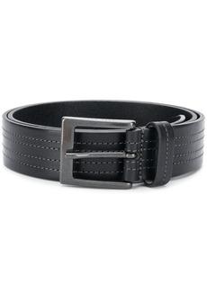 Hugo Boss stitch-detail buckled belt