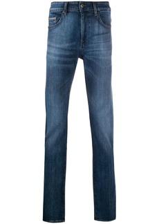 Hugo Boss straight-leg five pocket jeans