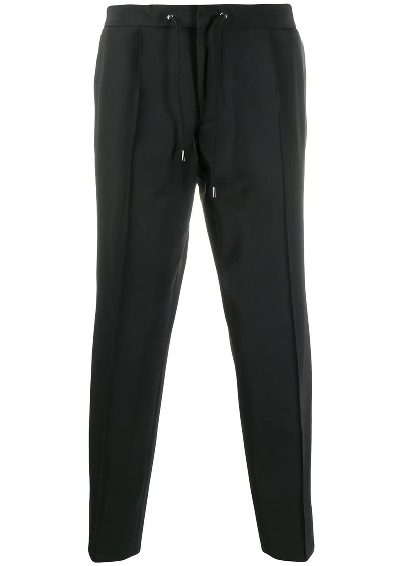 Hugo Boss stripe detail cropped trousers