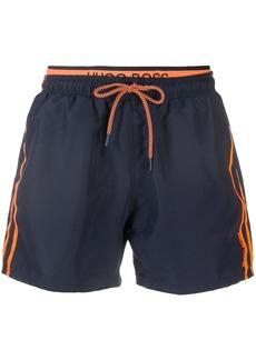 Hugo Boss stripe side swim shorts