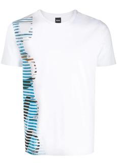 Hugo Boss striped logo T-shirt