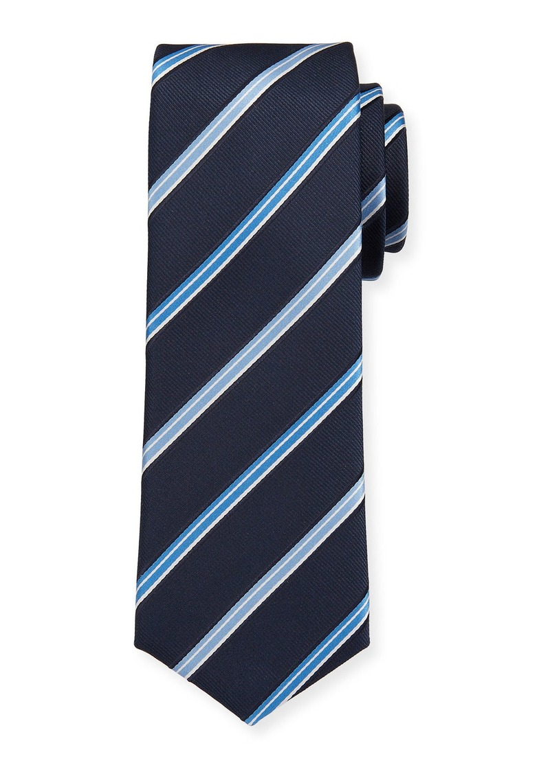 Hugo Boss Striped Travel Silk Tie