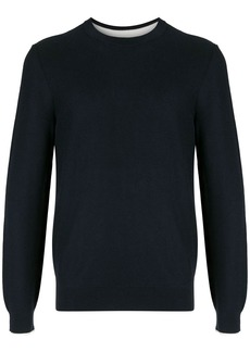 Hugo Boss contrast-cuffs crewneck sweater