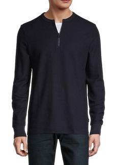 Hugo Boss Textor Quarter-Zip Cotton Pullover