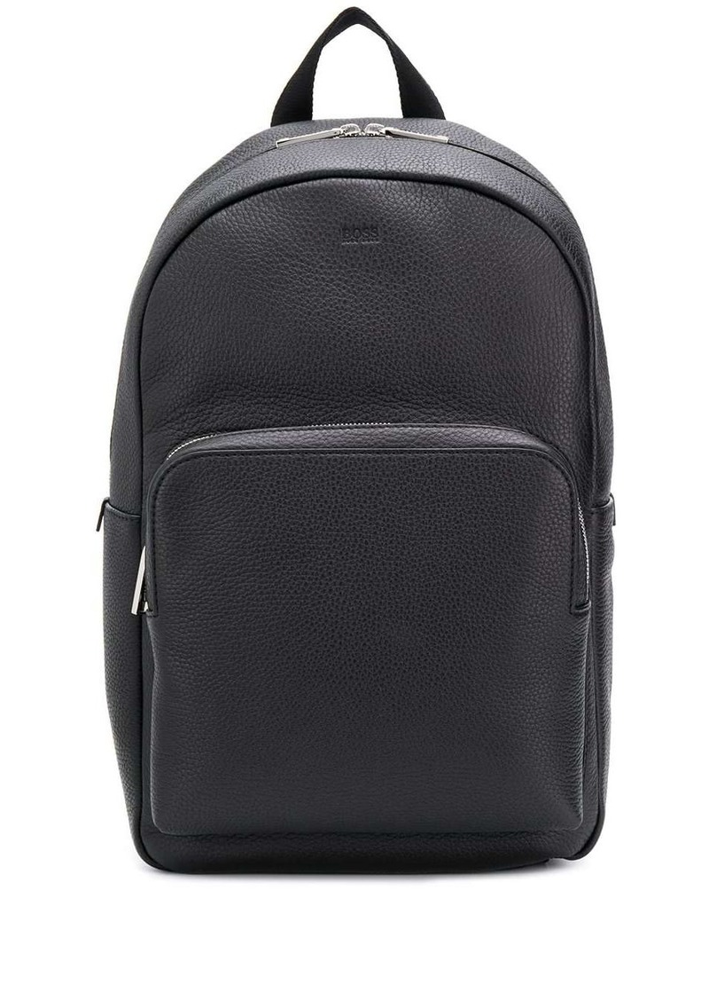 Hugo Boss textured leather backpack
