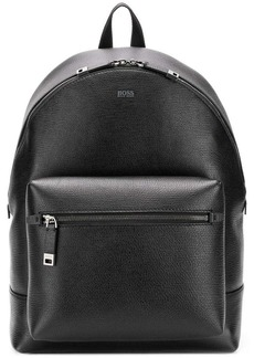 Hugo Boss textured leather backpack