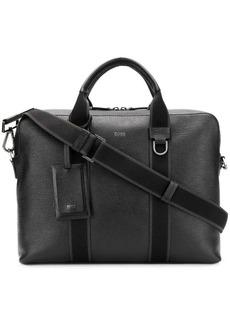 Hugo Boss textured leather messenger bag