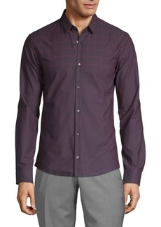 Hugo Boss Textured Long-Sleeve Shirt