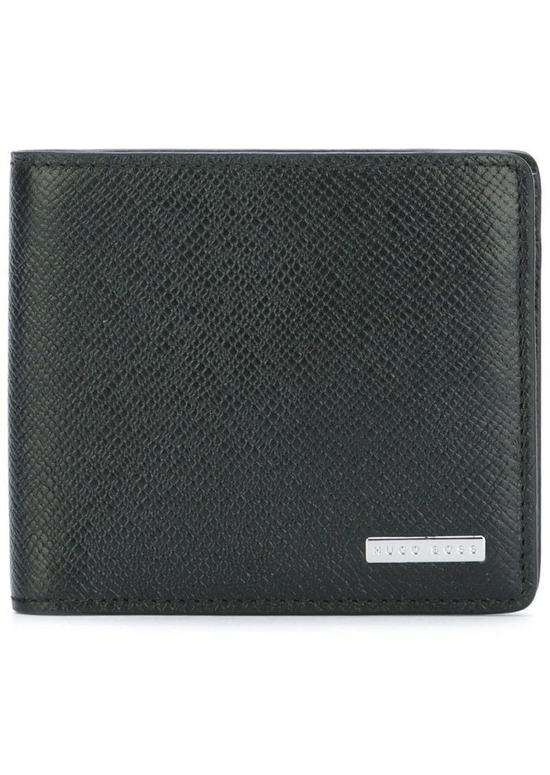 Hugo Boss textured portfolio wallet