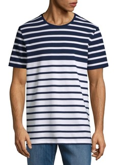 Hugo Boss Tiburt Striped Cotton Tee
