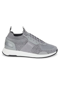 Hugo Boss Titanian Mixed-Media Sock Runners