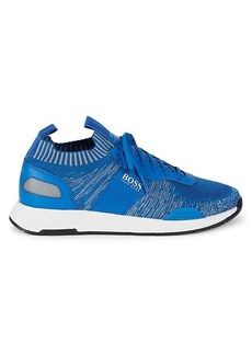 Hugo Boss Titanium Textured Sneakers