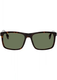 Hugo Boss Tortoiseshell Rectangular Sunglasses