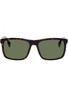 Hugo Boss Tortoiseshell Rectangular Sunglasses