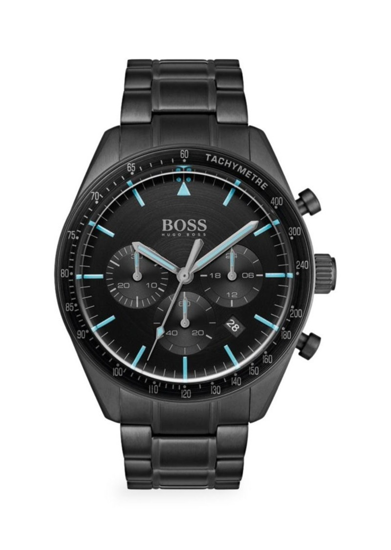 Hugo Boss Trophy Chronographic Ionic Plated Black Steel Watch