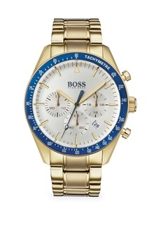 Hugo Boss Trophy Ionic Gold-Plated Stainless Steel Bracelet Watch