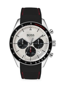Hugo Boss Trophy Stainless Steel Silicone Strap Chronograph Watch
