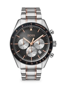 Hugo Boss Trophy Two-Tone Stainless Steel Chronograph Bracelet Watch