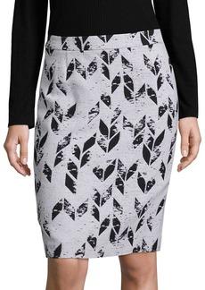 Hugo Boss Vimena Herringbone Pencil Skirt