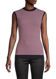 Hugo Boss Walinda Geometric Sleeveless Sweater