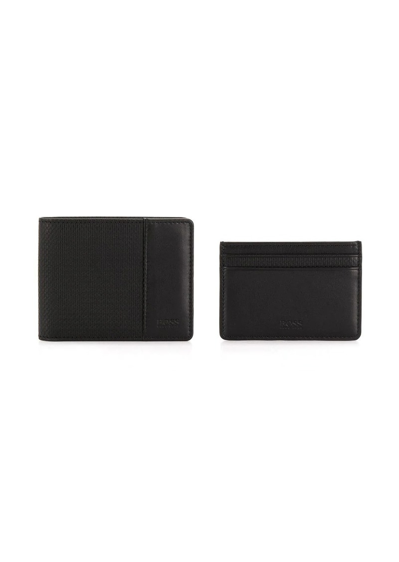 Hugo Boss wallet and cardholder set