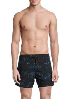 Hugo Boss White Shark Toucan Embroidery Swim Shorts