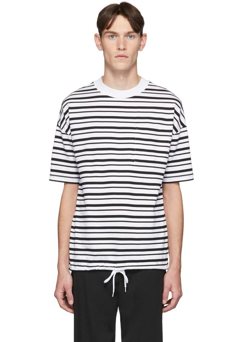 Hugo Boss White Striped Summery Tames T-Shirt