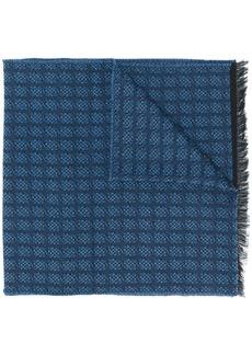 Hugo Boss woven check scarf