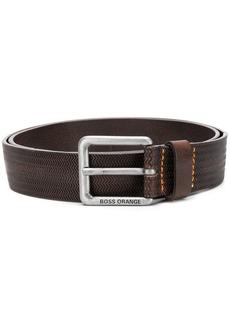 Hugo Boss zigzag embossed belt