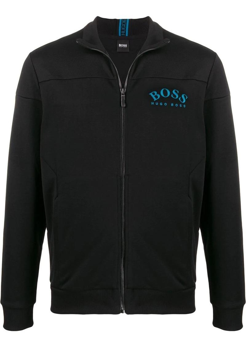 Hugo Boss zipped chest logo sweatshirt