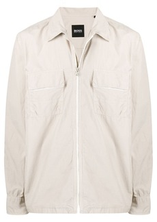 Hugo Boss zipped fitted jacket