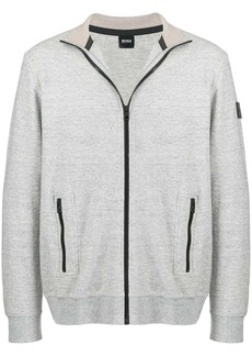 Hugo Boss zipped fitted sweatshirt