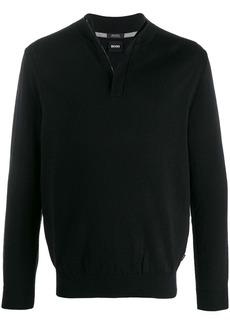 Hugo Boss zipped neck jumper