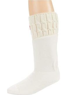 Hunter 6 Stitch Cable Boot Socks - Short