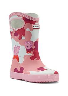 Baby's, Little Girl's & Girl's Hunter x Peppa Pig Camouflage Rainboots