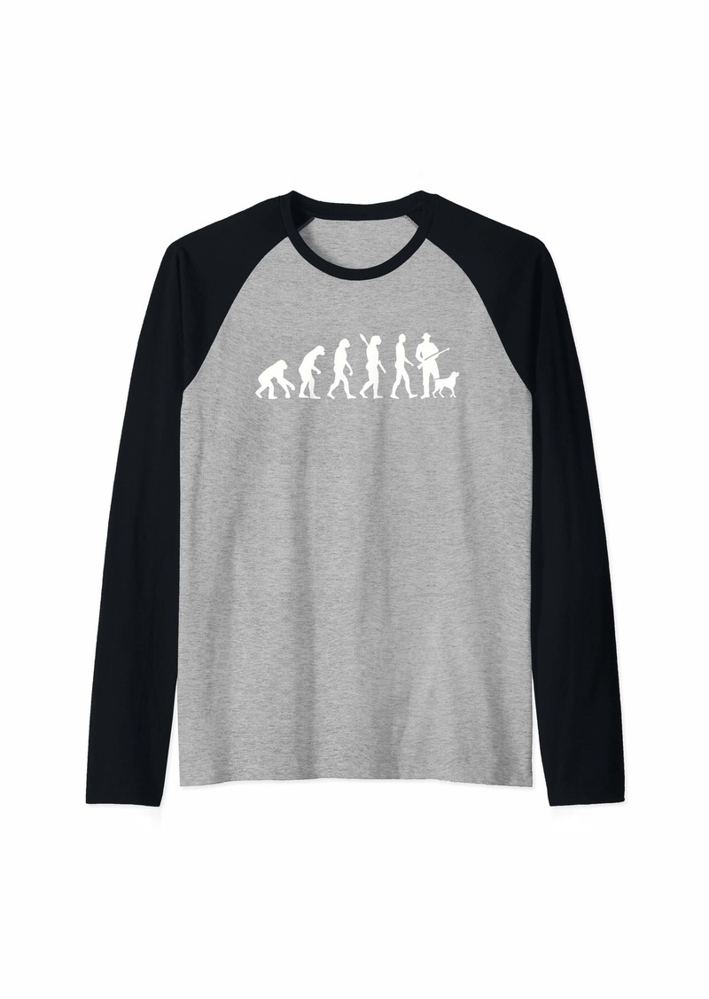 Evolution hunter Raglan Baseball Tee