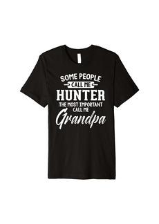 Fathers Day Design for a Hunter Grandpa Premium T-Shirt