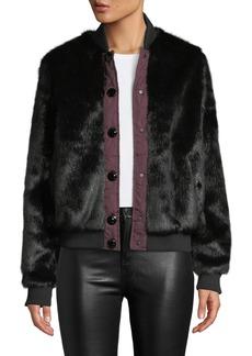 Hunter Faux-Fur Bomber Jacket